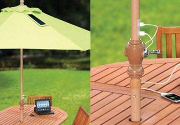parasol oplader mobil