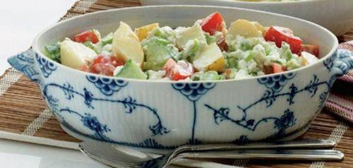 Kartoffelsalat med hytteost