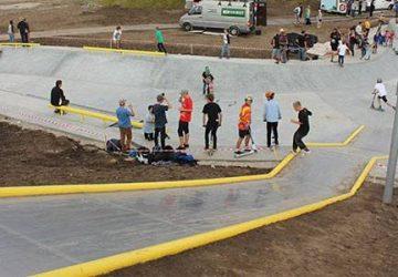 Skatepark holder på vandet