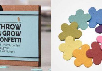 Øko-konfetti bliver til blomster