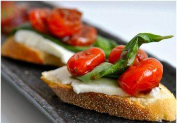 Tomat & mozzarella bruschetta