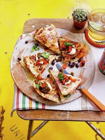 Rejer & sort bønne quesadillas