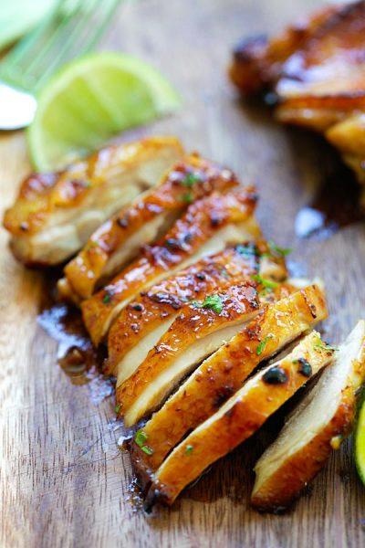 marineret kylling opskrift