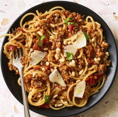 Spaghetti bolognese med linser