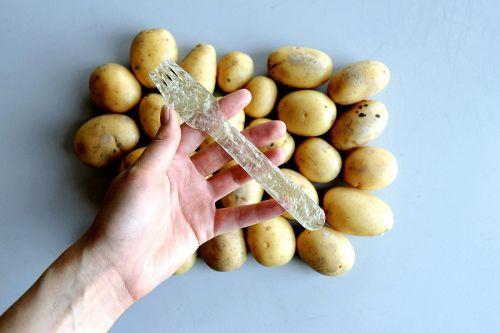 Plast fremstillet af kartoffelstivelse