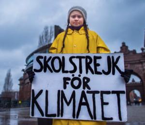 15 årige Greta Thunberg