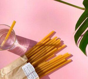Bæredygtige sugerør lavet af pasta