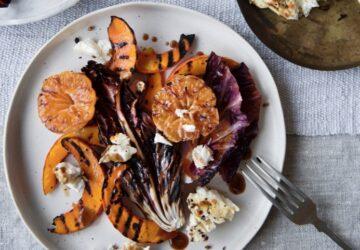 Klementiner, butternut squash og radicchiosalat